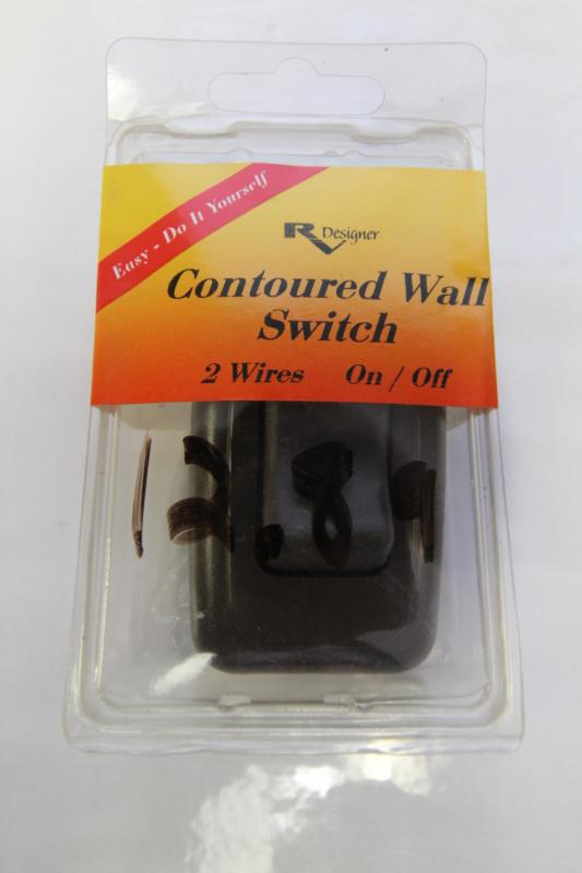 Contoured Wall Switch - Brown