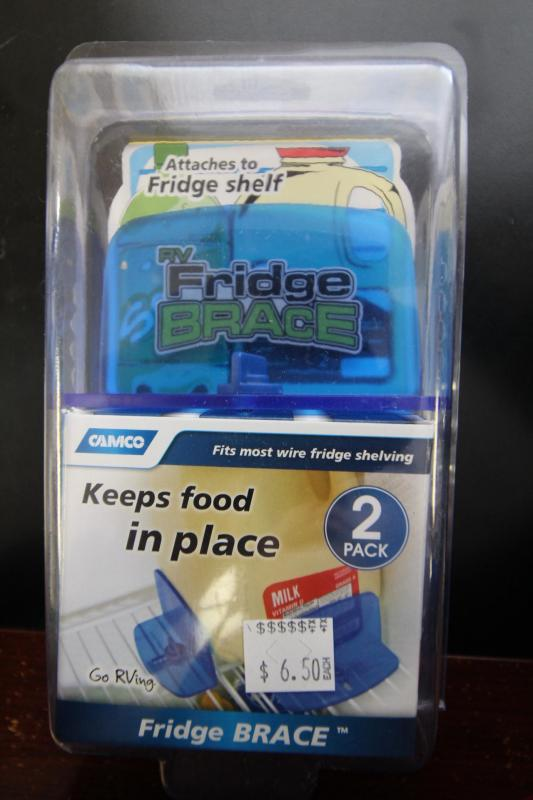 RV Fridge Brace - Keeps food in place - 2 pack