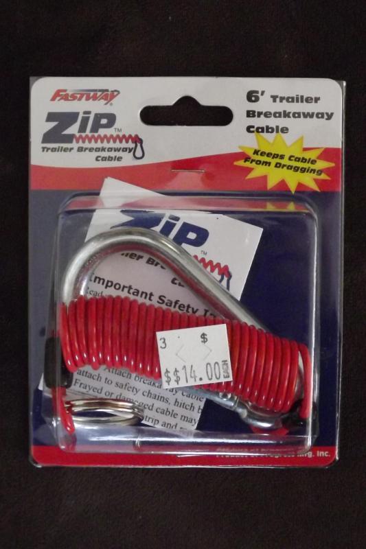 6' Zip Clip - Trailer Breakaway Cable