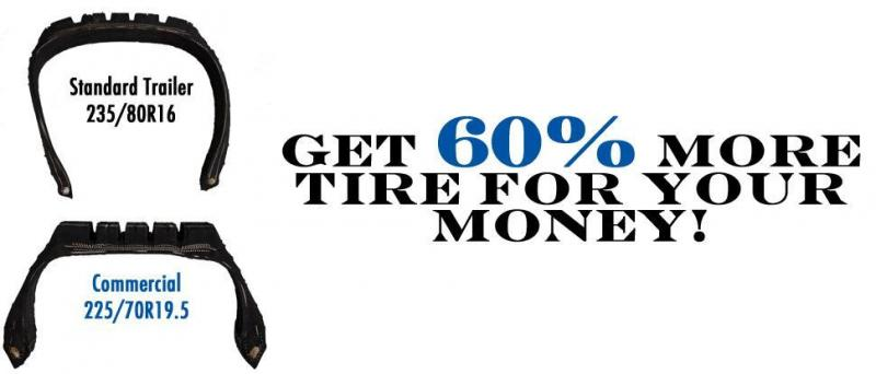 GET 60% More Tire for Your Money w/ a Commercial 225-70R19.5