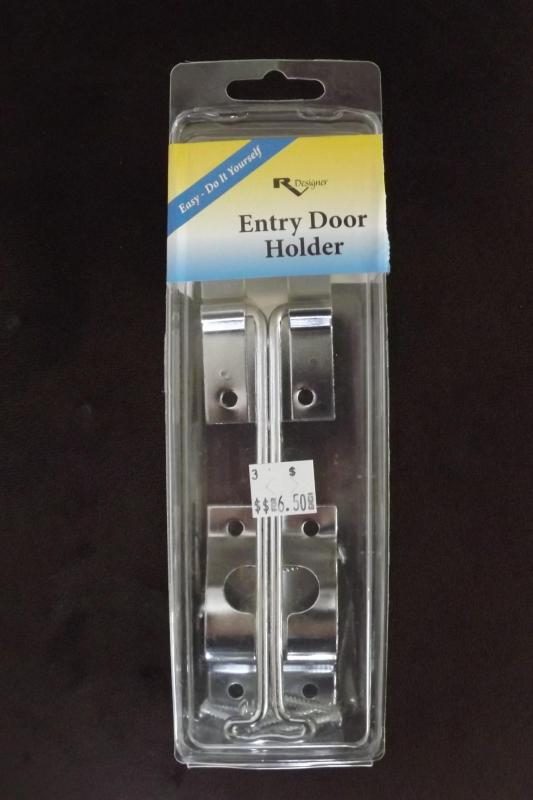 """Metal Entry Door Holder Zinc """"T"""" 6"""""""