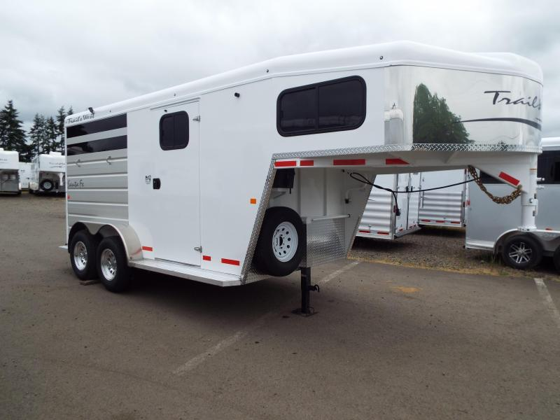 2017 Trails West Santa Fe 14 ft Gooseneck 2 Horse Trailer - Steel Frame Aluminum Skin - Escape Door - Swing Out Saddle Rack - PRICE REDUCED