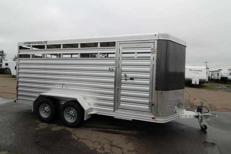 "2019 Featherlite 8107 Livestock Trailer - All Aluminum - 16' - 6'6"" Tall"