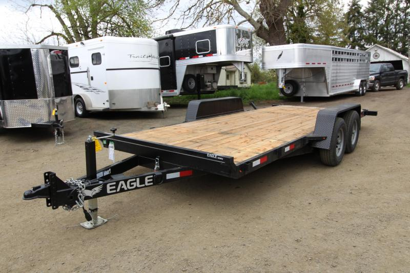 2019 Eagle Trailer 7 x 18 Tandem Eagle Tiltbed 10K Flatbed Trailer