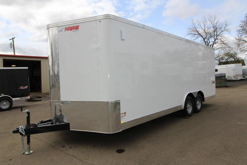 2019 Mirage Trailers Xpres 8.5 x 20 Tandem Axle Car / Racing Trailer - Rear Ramp - White Exterior Color