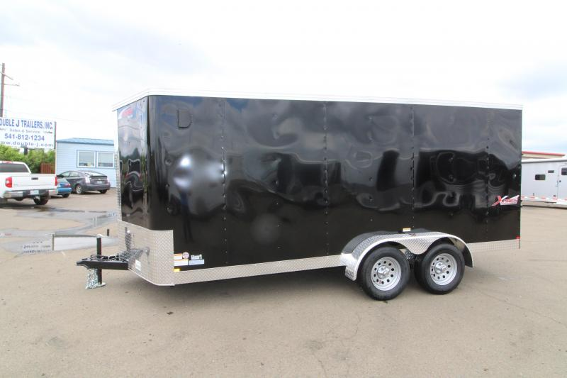 2019 Mirage Xpres - 7x16 Utility Trailer- black exterior - Rear ramp door- Xtra package