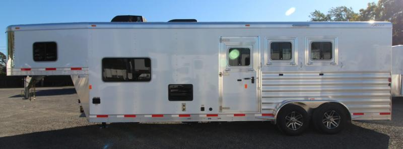 "2019 Exiss Escape 7310 - 10' S.W. Living Quarters 3 Horse Aluminum Trailer - 7'6"" Tall - Easy Care Flooring"