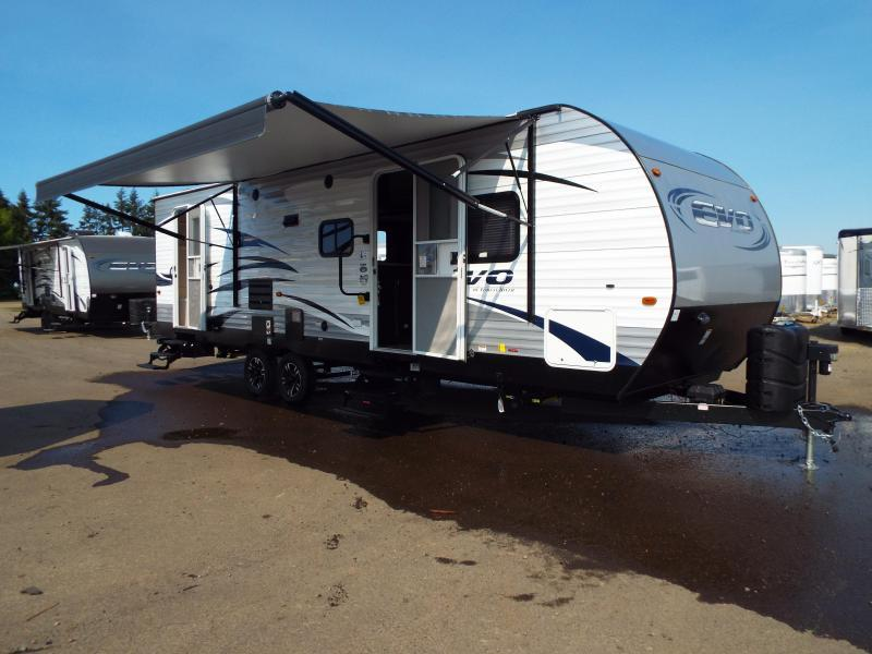 2018 Evo Travel Trailer Model 2850 w/ Bunk Beds - Slide Out - Arctic Package - Solar Prep - PRICE REDUCED BY $1000