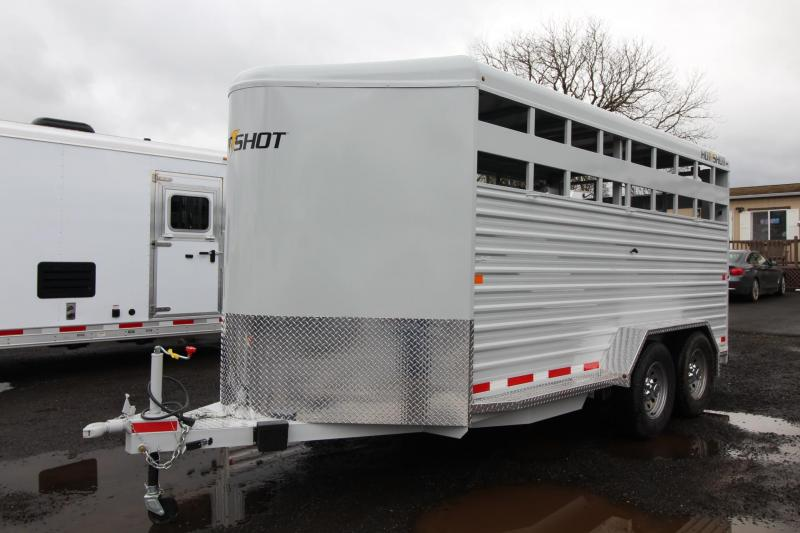 2018 Trails West Hot Shot 17ft Livestock Trailer
