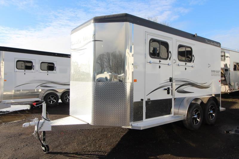 2018 Trails West Sierra Select 2 Horse Trailer - Seamless Vacuum Bonded Walls and Roof - Lined and Insulated - Escape Door