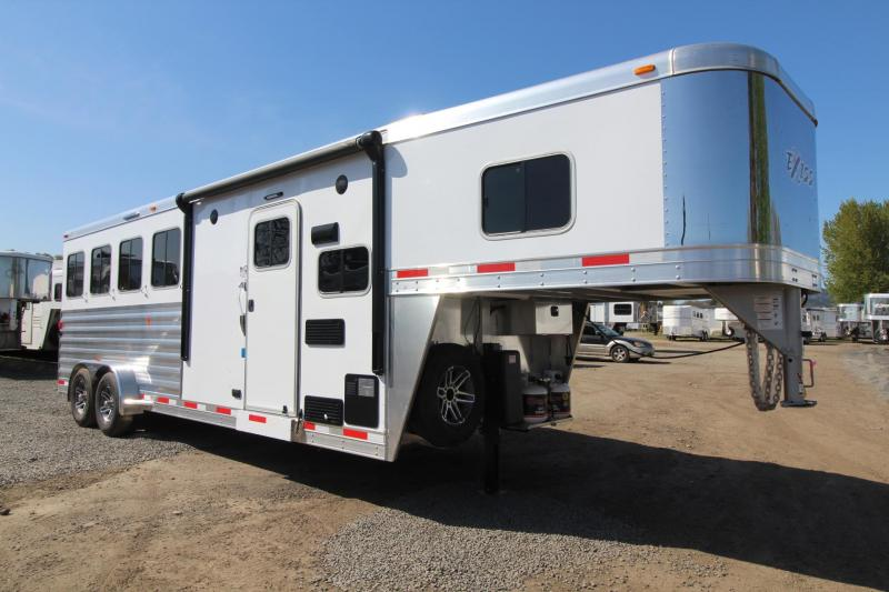 2018 Exiss Escape 7406 - 6ft Short Wall LQ - 4 Horse Trailer - Polylast Easy Care Flooring