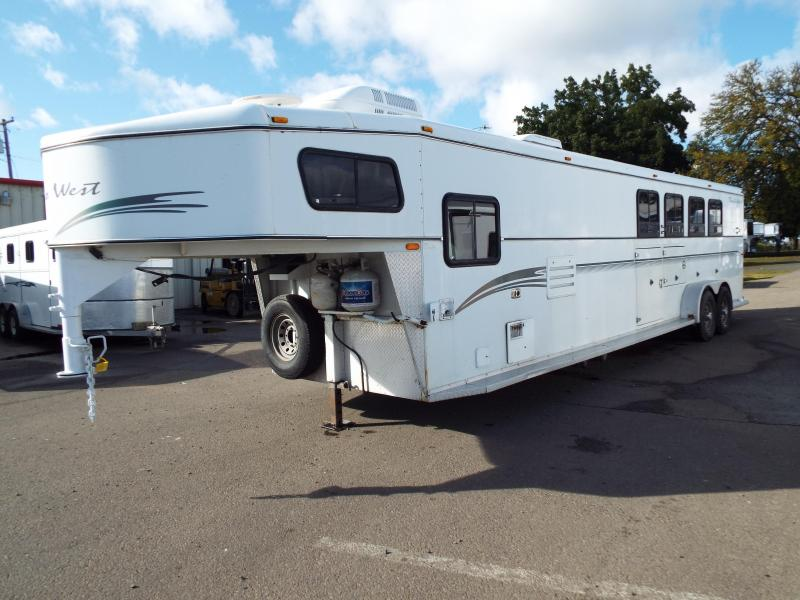2001 Trails West Sierra 4 Horse -11 ft SW Living Quarters Trailer - Mangers on First Two Stalls -  2ft SW Angled Mid Tack Room PRICE REDUCED BY $2500