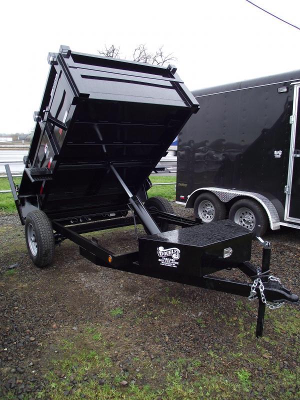 2014 Eagle 5x8 Single Axle Dump Trailer - 5.2K - Spare Tire - LED Lights - REDUCED $150!