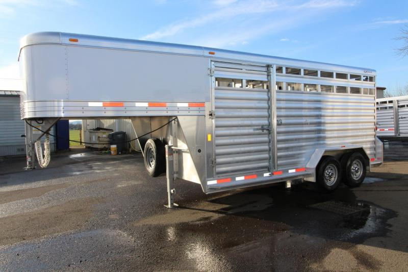 "2018 Exiss Trailers 7016 All Aluminum 16 ft - 7'2"" Tall - Livestock Trailer"