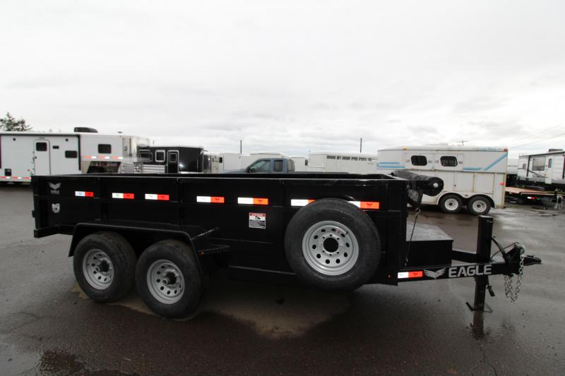 "2019 Eagle Trailer Black Hawk 14K Dump Trailer - Mesh Roll Tarp - Spare Tire - 30"" Deck height - Tandem 7000# axles - Leaf spring suspension - Manual crank jack - Heavy duty 6' Ramps - PRICE REDUCED"