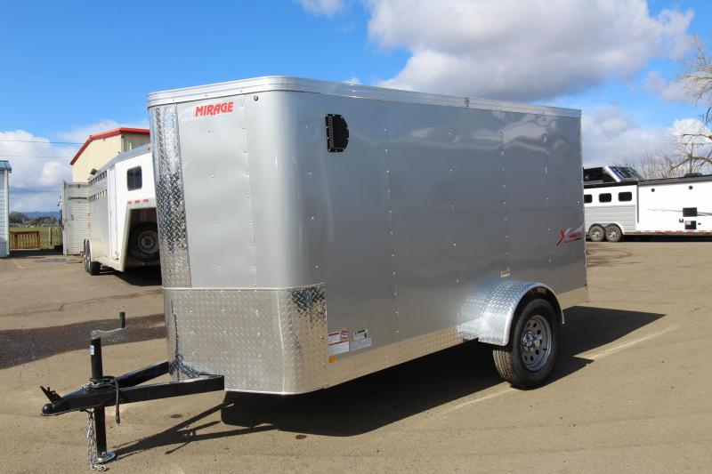 2019 Mirage Trailers X-Pres 5 x 10 Single Axle Enclosed Cargo Trailer - Single Rear Door - V Nose - Diamond Ice Exterior Color - Flat roof - V nose - Xtra package