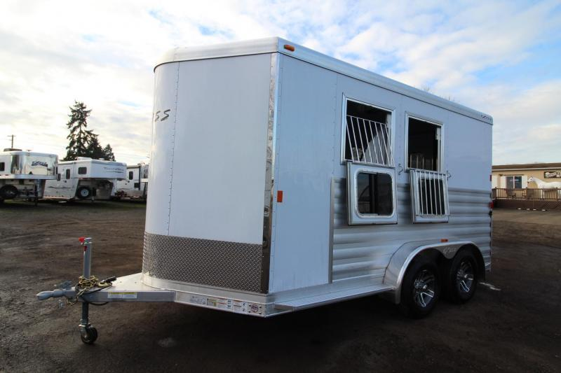 "2018 Exiss 720 Horse Trailer -7'6"" Tall - Lined & Insulated Ceiling - Polylast flooring - Large Tack Room PRICE REDUCED $1230"