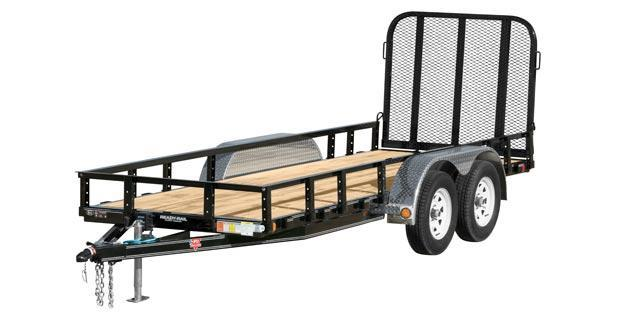 "2019 PJ Trailers 10' x 83"" Tndm Axle Channel Utility Trailer"
