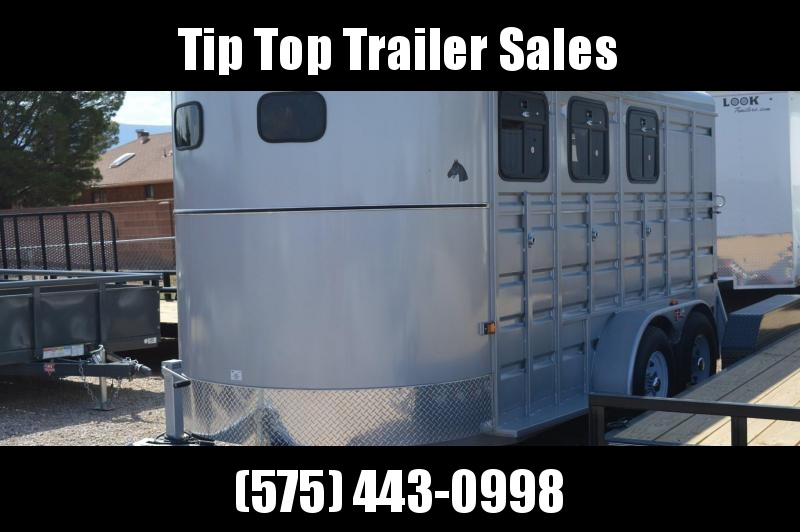 2020 GR Trailers 6.8' X 16' Bumper Pull Horse Trailer with 3 windows on each side