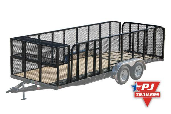 "2020 PJ Trailers 14' x 83"" Tndm Axle Channel Utility Trailer"