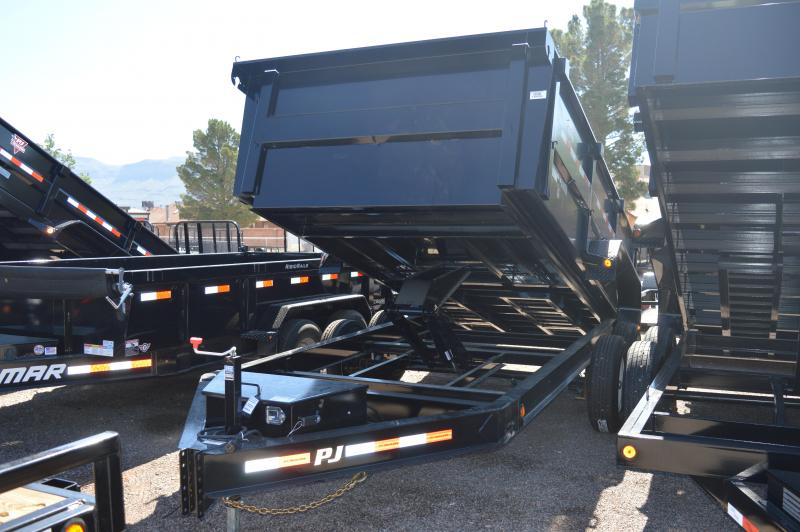 "2019 PJ Trailers 14' x 83"" Low Pro High Side Dump Trailer"