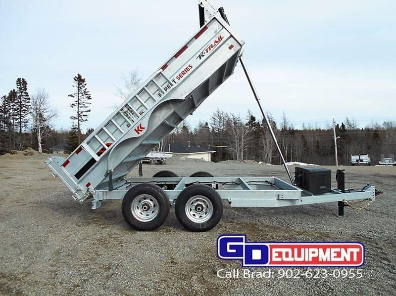 2017 K Trail 6.8 x 12 - 14000 LB Dump Galvanized