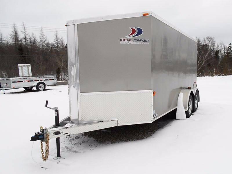 2017 Ideal Cargo 7 x 14 V Nose Galvanized Structure