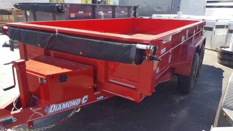 "2018 Diamond C 77""x12' Medium Duty Dump Trailer"