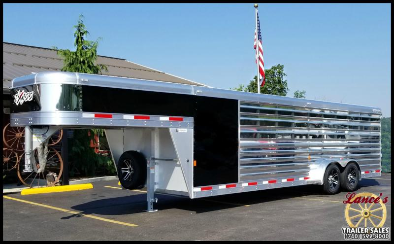 "2018 Exiss ""Exhibitor"" 24' Livestock Trailer w/Air Gaps"