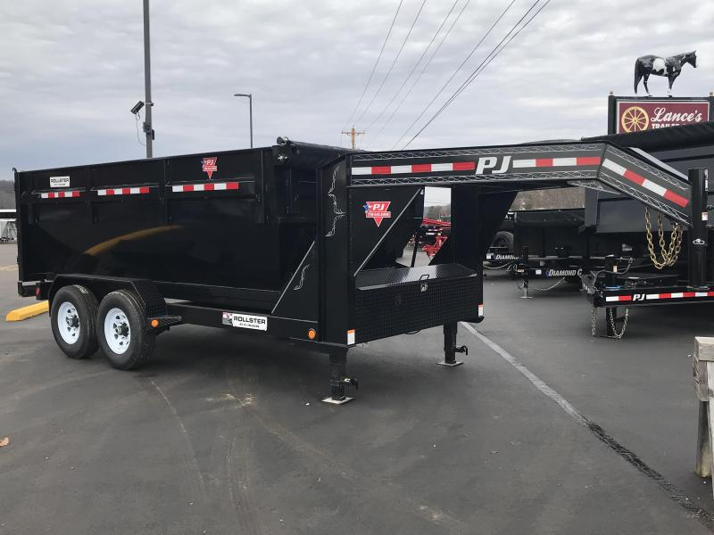 2019 PJ 7'x14' Roll Off Dump Box and Trailer K1306735