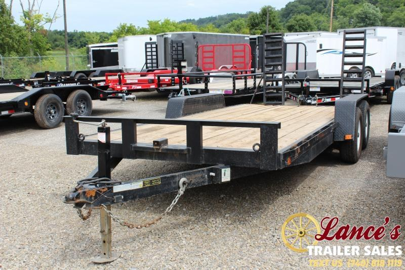 2017 Leonard EQ 82x18 Equipment Trailer