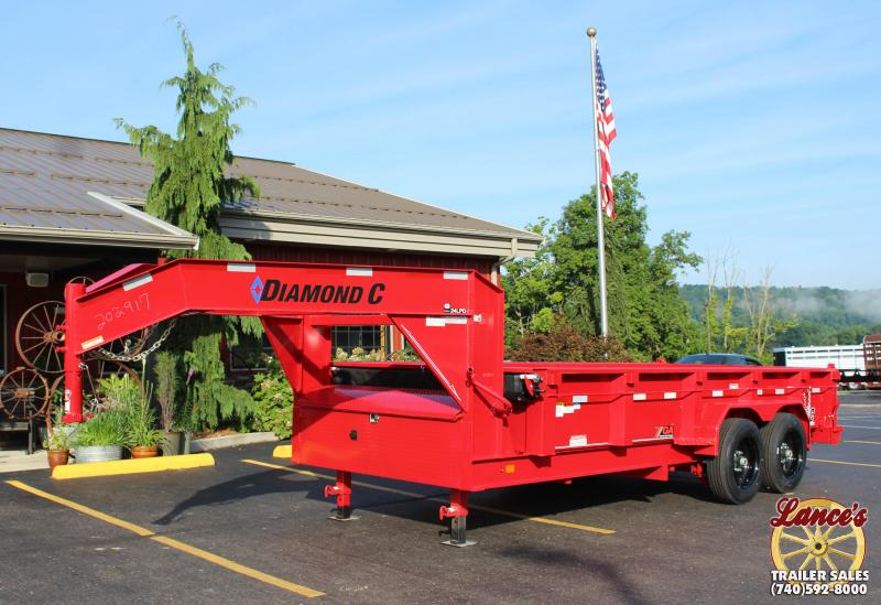 "2018 Diamond C 82""x16' Heavy Duty Low Pro Gooseneck Dump Trailer"