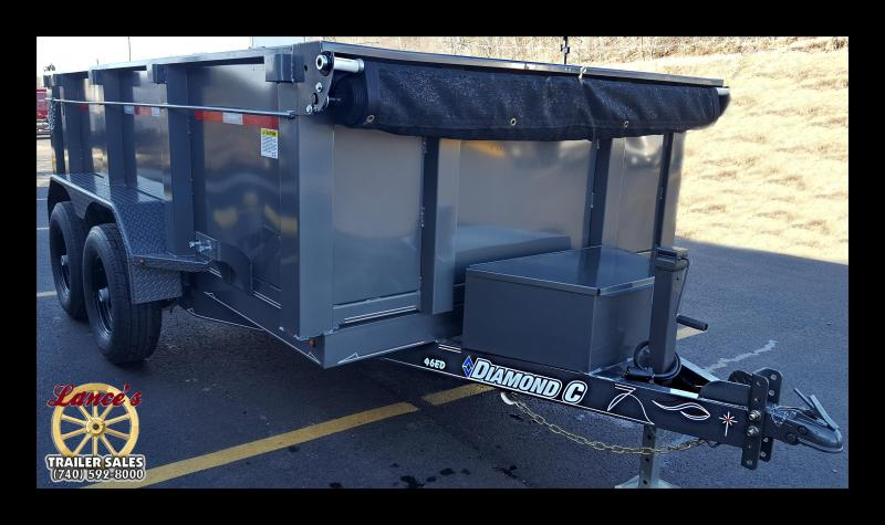 "2017 Diamond C 77""x12'  Dump Trailer w/Ramps/Tall Sides"