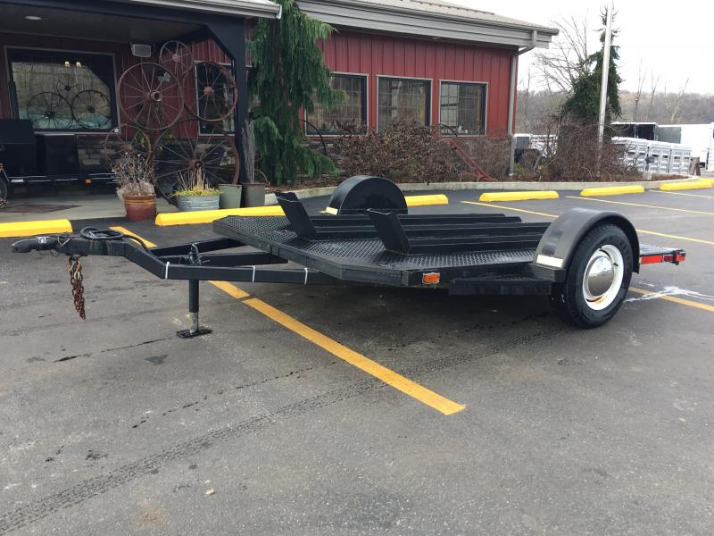 2001 Tex Mex 7'x10' 3 Rail Motorcycle Trailer