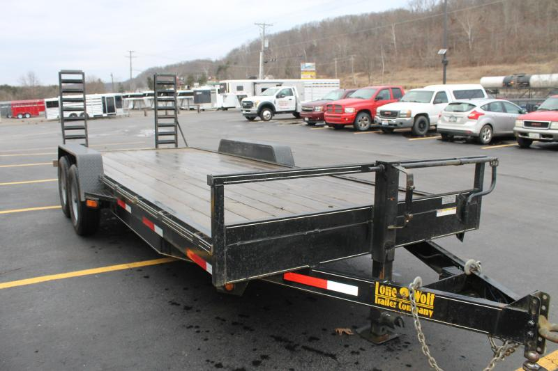"2013 Lone Wolf Trailer 81""Wx20'L 14K Equipment Trailer"