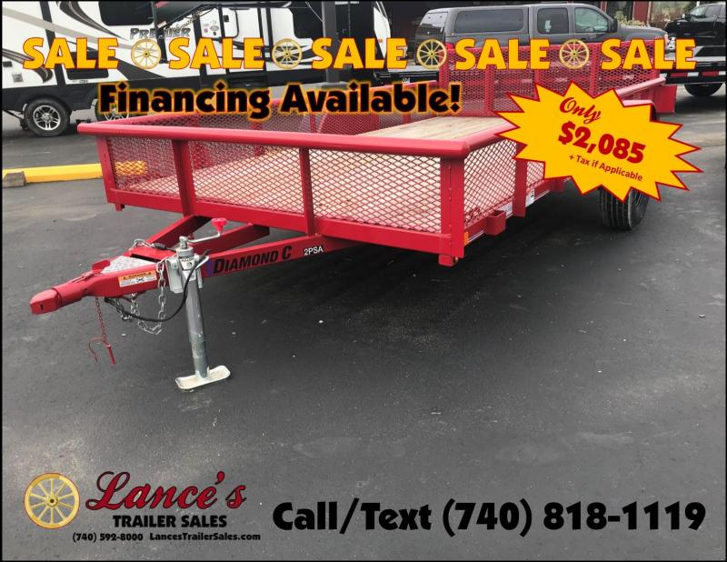 "2018 Diamond C 2PSA 77""x12' Utility Trailer J1204622"