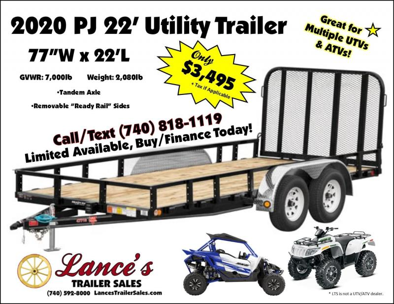 2020 PJ Trailers UK222 Utility Trailer