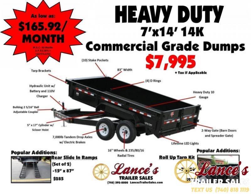 2019 PJ 7'x14' 14K Heavy Duty Dump Trailer