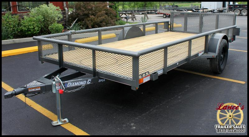 "2017 Diamond C 77x14 ""2PSA"" Utility Trailer"