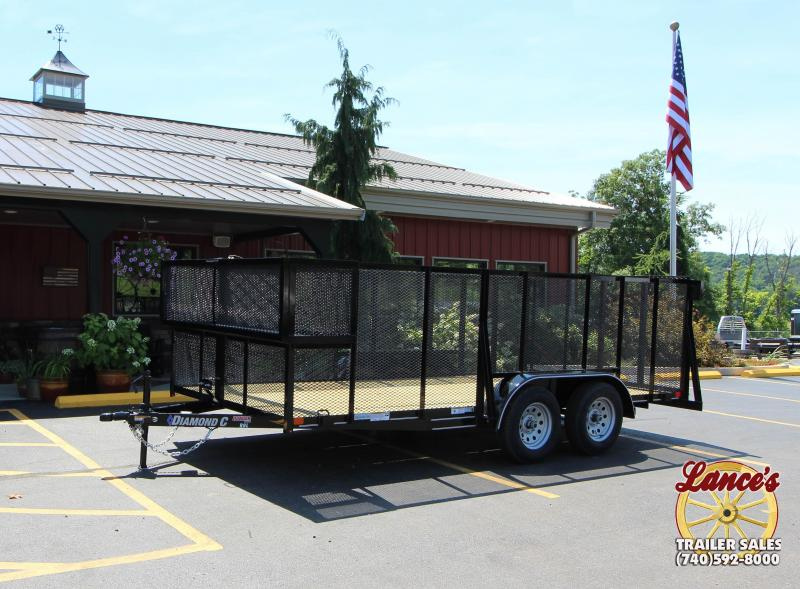 "2018 Diamond C 83""x16' Landscape Trailer"