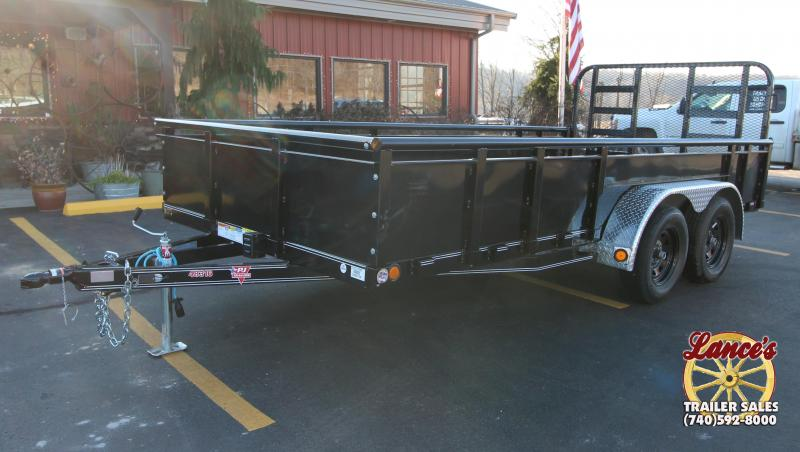 "2019 PJ 83""x16' Heavy Duty Fold Up Gate Utility Trailer"