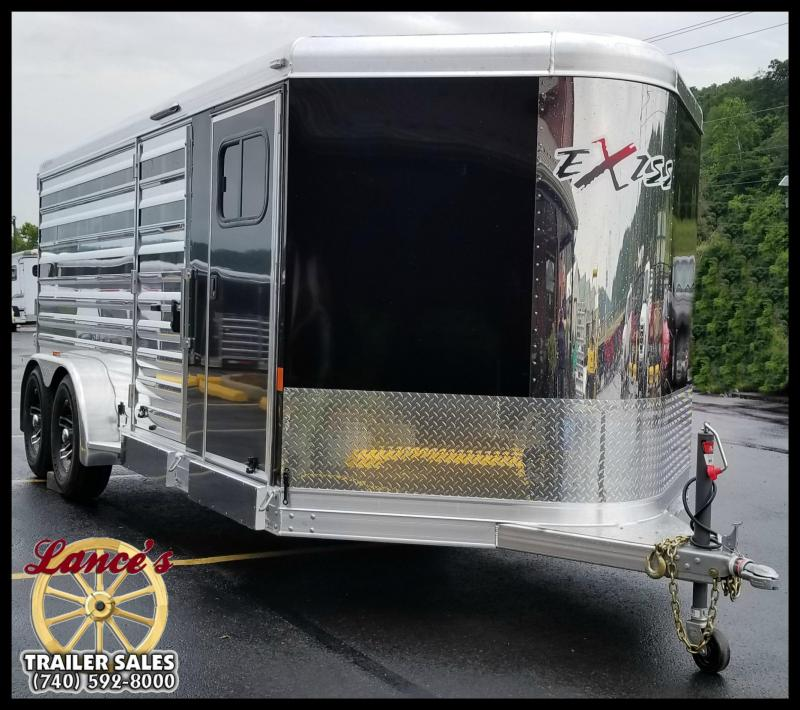 "2018 Exiss ""Exhibitor"" 16' Livestock Trailer w/Air Gaps"