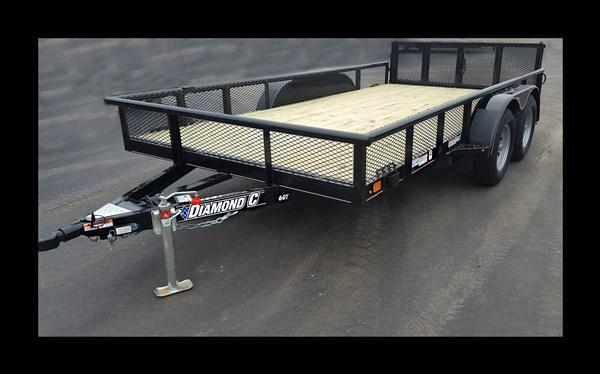 "2017 Diamond C ""6GT"" 14' Utility Trailer"