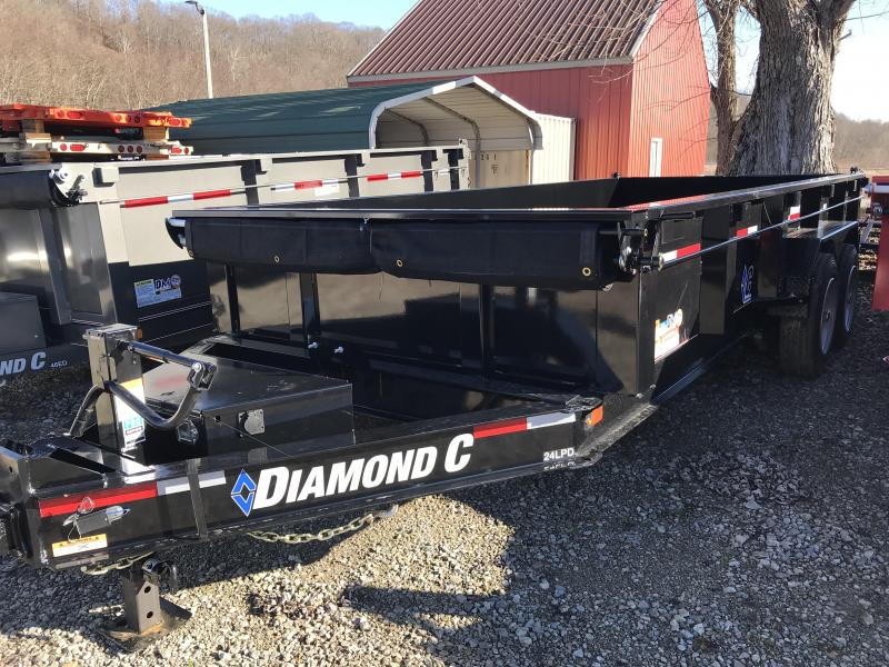 "2019 Diamond C 82""X16' Heavy Duty Dump Trailer"