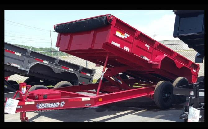 "2017 Diamond C 82""x14' Heavy Duty Low Pro Dump Trailer"