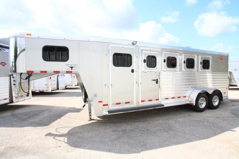 2017 Hart MVP 4 Horse Slant Load Gooseneck Horse Trailer