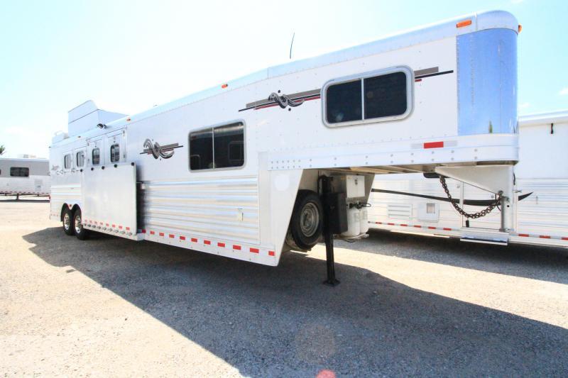 2010 Platinum Coach 4 Horse Reverse Load Horse Trailer