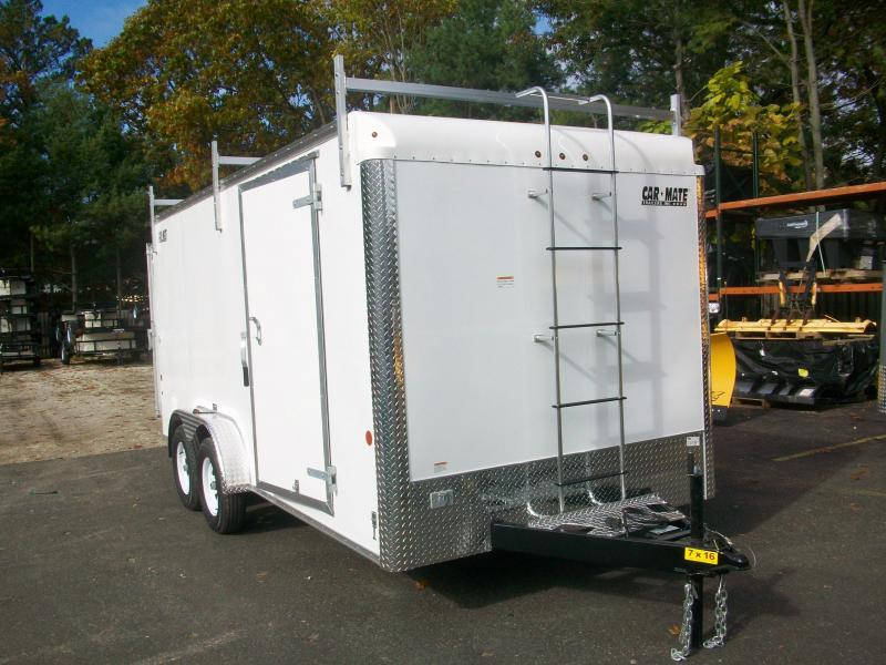 2018 Car Mate Trailers 7X16 Enclosed Contractor Trailer 2017939