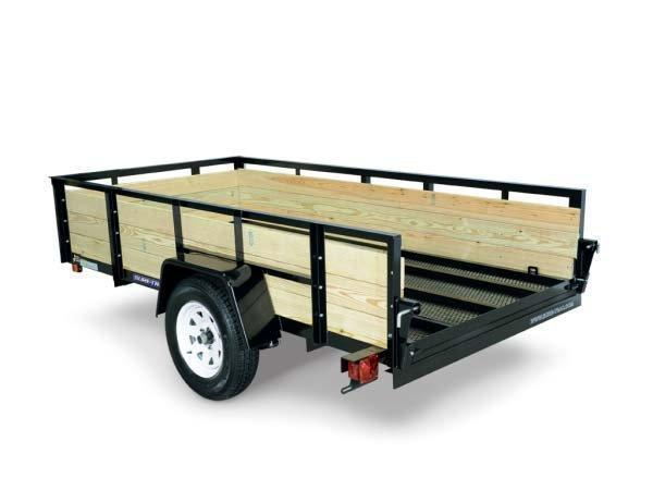 2017 Sure-Trac 5 x 8 Tube Top Three Board Utility Trailer 2017536