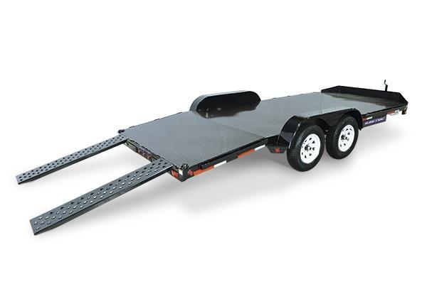 2018 Sure-Trac 7 x 18 Steel Deck Car Hauler 7k 2018638